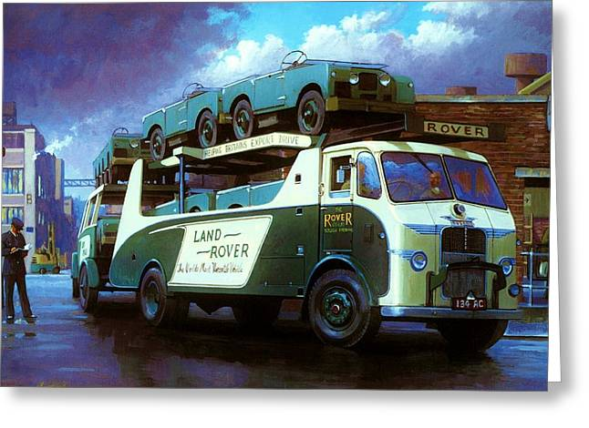 Lorries Greeting Cards - Rovers for export. Greeting Card by Mike  Jeffries