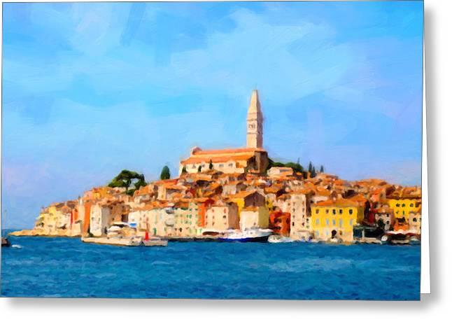Mediterranean Landscape Digital Art Greeting Cards - Rovinj Greeting Card by George Bailey