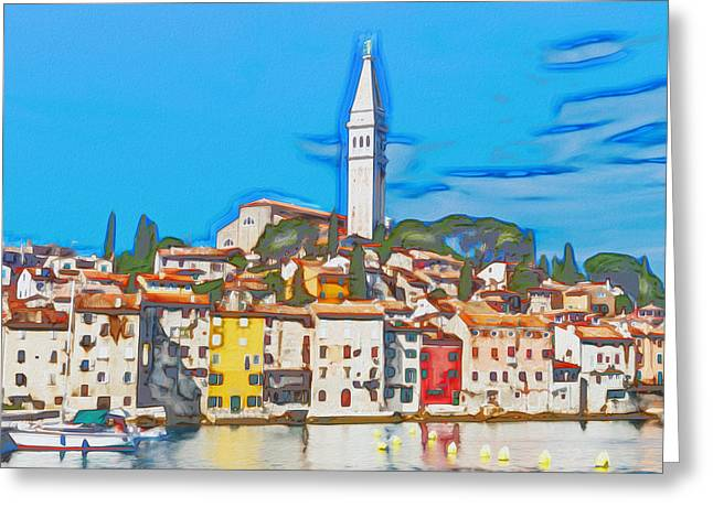 Photomanipulation Paintings Greeting Cards - Rovinj Greeting Card by Nikola Durdevic