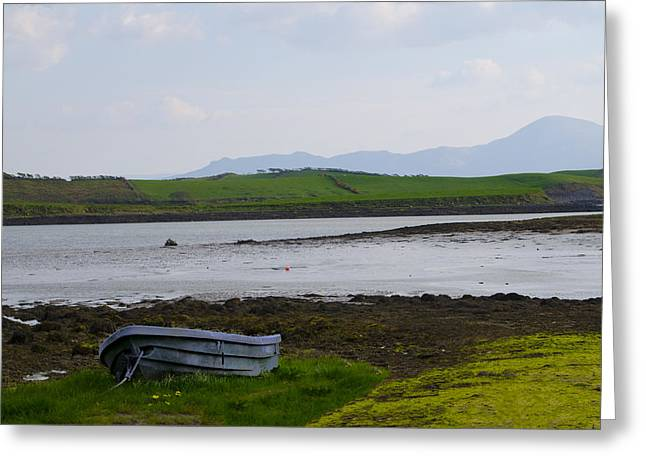 Rowboat Digital Art Greeting Cards - Row Boat at Low Tide - County Mayo Ireland Greeting Card by Bill Cannon
