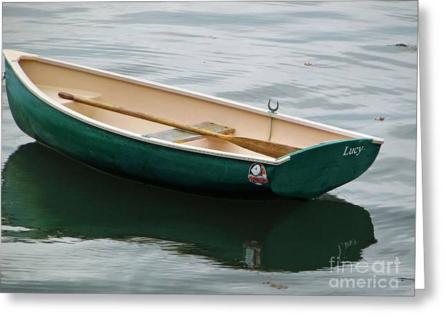 Masts Greeting Cards - Row-boat Greeting Card by Helene Guertin
