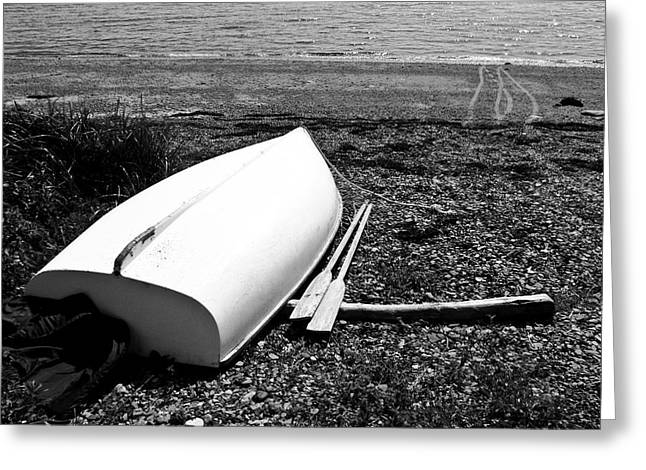 Tony Grider Greeting Cards - Row Boat in Maine Greeting Card by Tony Grider