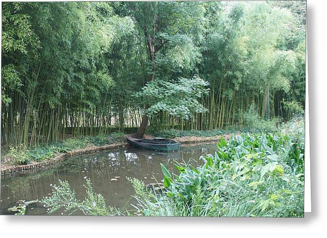 Row Boat Greeting Card by Kristine Bogdanovich