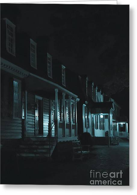 Row Homes Greeting Cards - Row Homes Greeting Card by Margie Hurwich