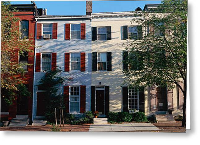 Row Homes, Philadelphia Greeting Card by Panoramic Images
