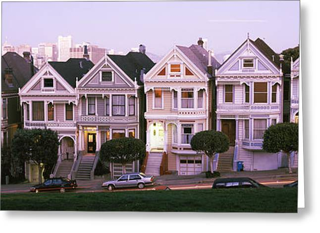 Repetition Greeting Cards - Row Houses In A City, Postcard Row, The Greeting Card by Panoramic Images