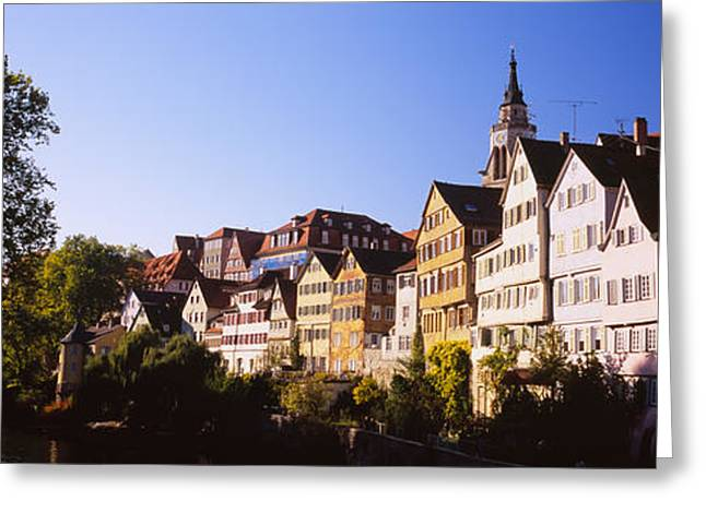 House Gable Greeting Cards - Row Of Houses In A City, Tuebingen Greeting Card by Panoramic Images