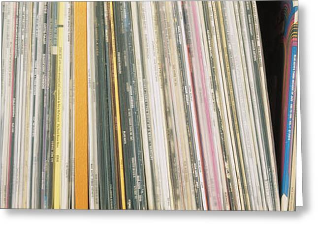 Repetition Greeting Cards - Row Of Music Records, Germany Greeting Card by Panoramic Images