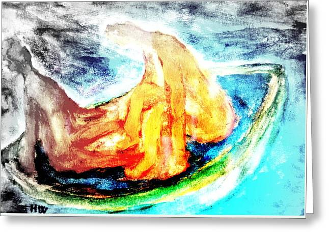 in a boat with you, my love, I will soon forget all about who I am   Greeting Card by Hilde Widerberg