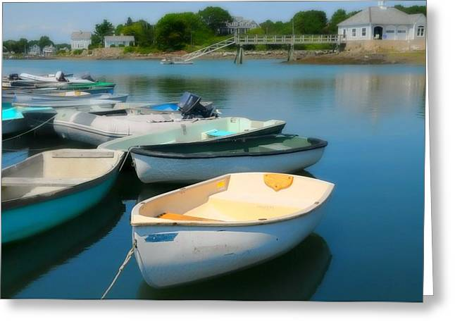 Kennebunkport Greeting Cards - Row Your Boat Greeting Card by Diana Angstadt