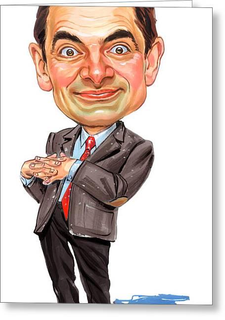 British Celebrities Greeting Cards - Rowan Atkinson as Mr. Bean Greeting Card by Art