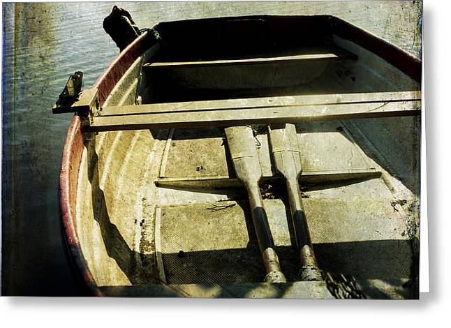Anticipation Photographs Greeting Cards - Rowboat Greeting Card by Bernard Jaubert