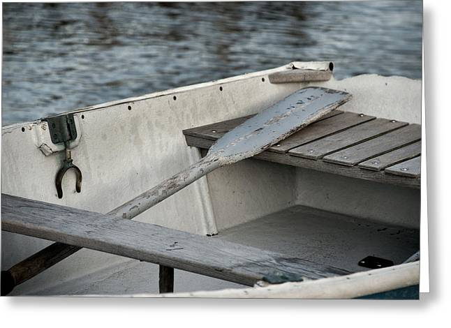 Row Boat Greeting Cards - Rowboat Greeting Card by Charles Harden