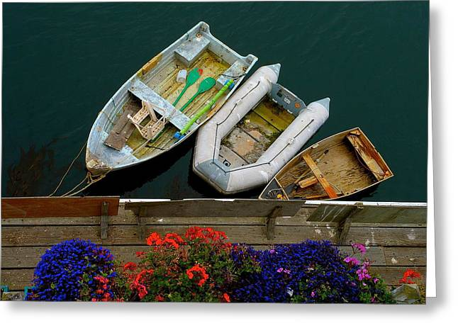 My Ocean Greeting Cards - Rowboat Family Greeting Card by My Lens and Eye   - Judy Mullan -