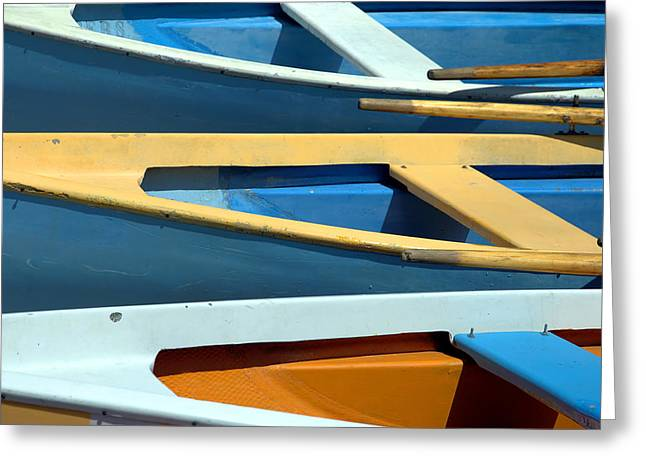 Passenger Ship Greeting Cards - Rowboats Greeting Card by Chevy Fleet