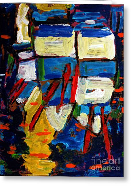 Complimentary Greeting Cards - Rowboats under a Tuscan Sun archived Greeting Card by Charlie Spear