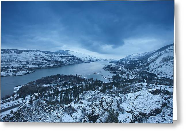 River Scenes Greeting Cards - Rowena Snow Greeting Card by Darren  White
