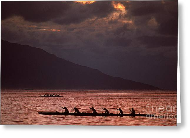 Rowing Crew Greeting Cards - Rowing Teams Greeting Card by James L. Amos