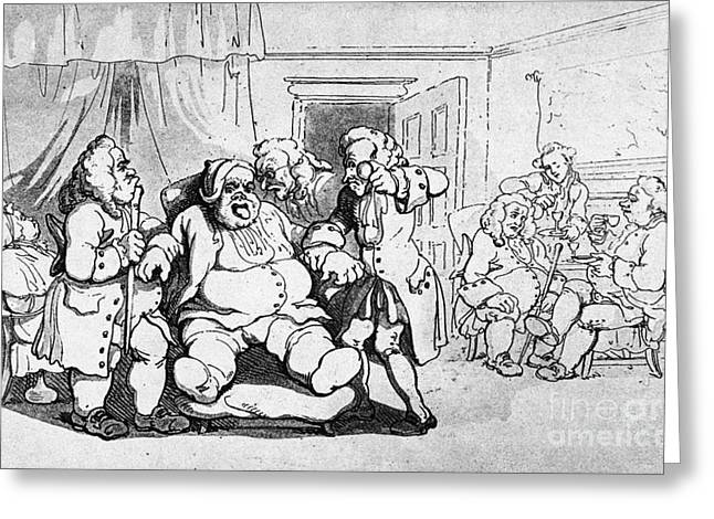 Rowlandson Greeting Cards - Rowlandson: Quack Doctor Greeting Card by Granger