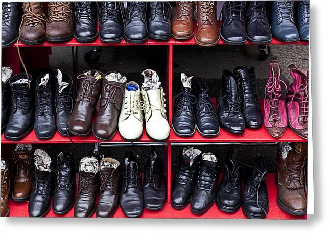 Rows of shoes Greeting Card by Garry Gay