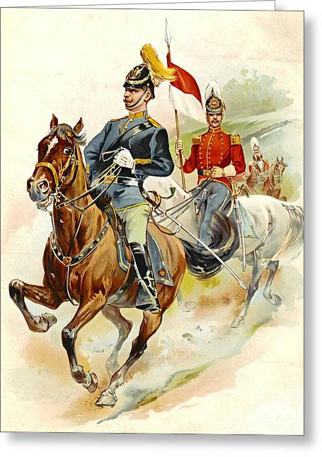 Roxbury Greeting Cards - Roxbury Horse Guards 1895 Greeting Card by Padre Art