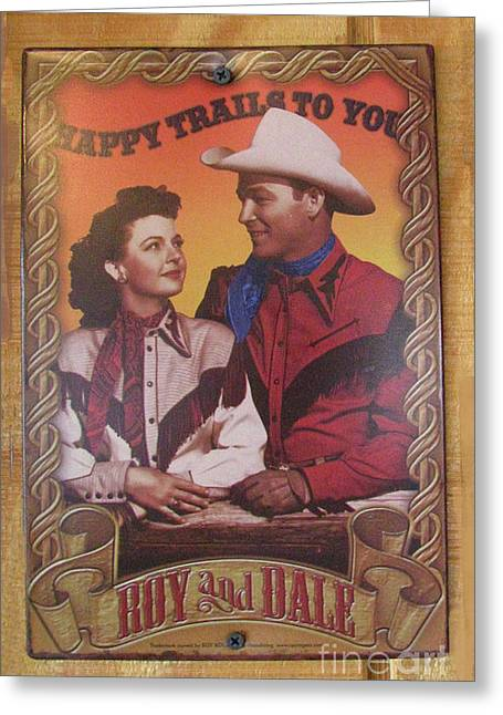 Cow Boy Greeting Cards - Roy and Dale Greeting Card by Donna Brown