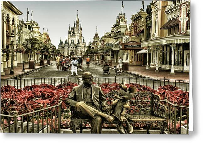 Wdw Greeting Cards - Roy And Minnie Mouse Antique Style Walt Disney World Greeting Card by Thomas Woolworth