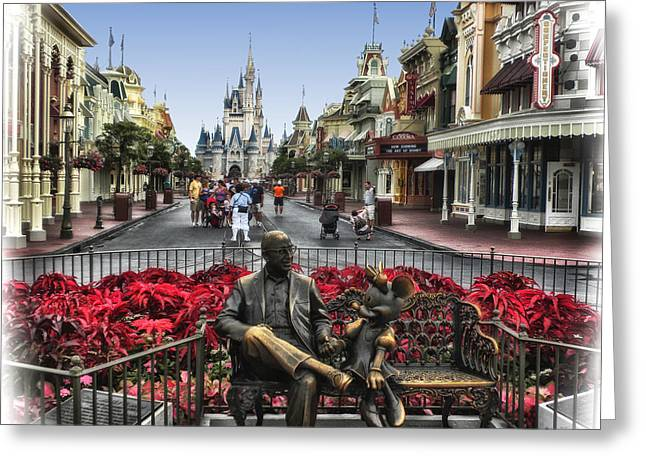 Roy And Minnie Mouse Walt Disney World Greeting Card by Thomas Woolworth
