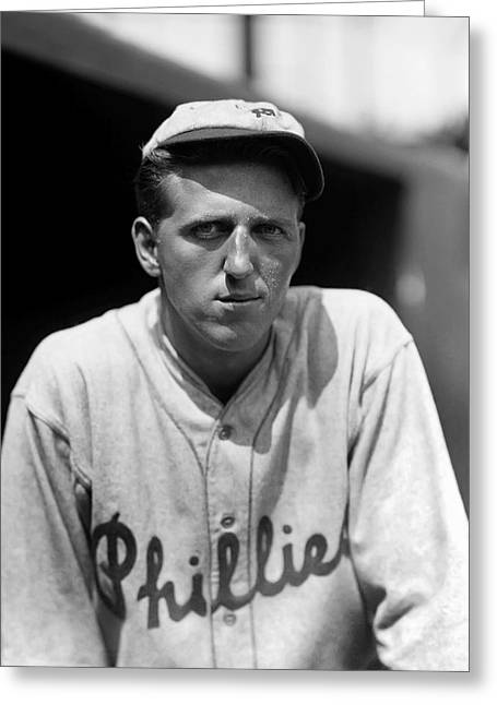 Baseball. Philadelphia Phillies Greeting Cards - Roy E. Snipe Hansen Greeting Card by Retro Images Archive
