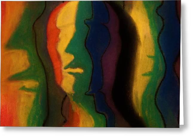 Spectrum Pastels Greeting Cards - Roy G. Biv Greeting Card by John Sekela