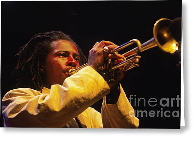 Art Of Soul Music Greeting Cards - Roy Hargrave Greeting Card by Craig Lovell