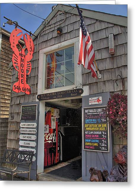 Lobster Shack Photographs Greeting Cards - Roy Moore Lobster Company Greeting Card by Joann Vitali
