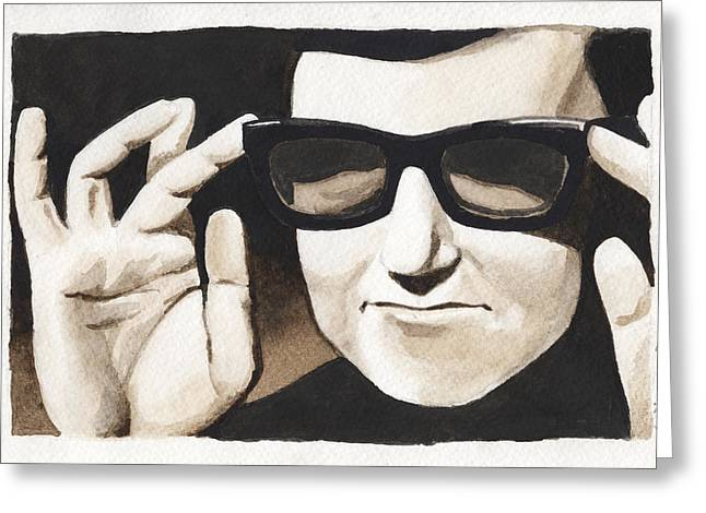 Prison Paintings Greeting Cards - Roy Orbison Greeting Card by David Shumate