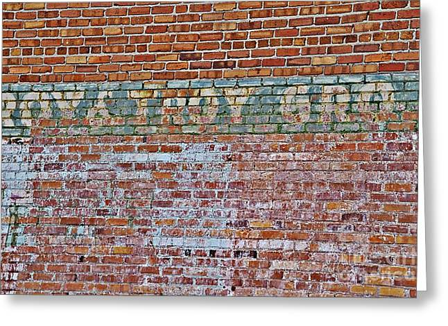 Recently Sold -  - Grocery Store Greeting Cards - Roy  Troy Grocery Store Greeting Card by JW Hanley