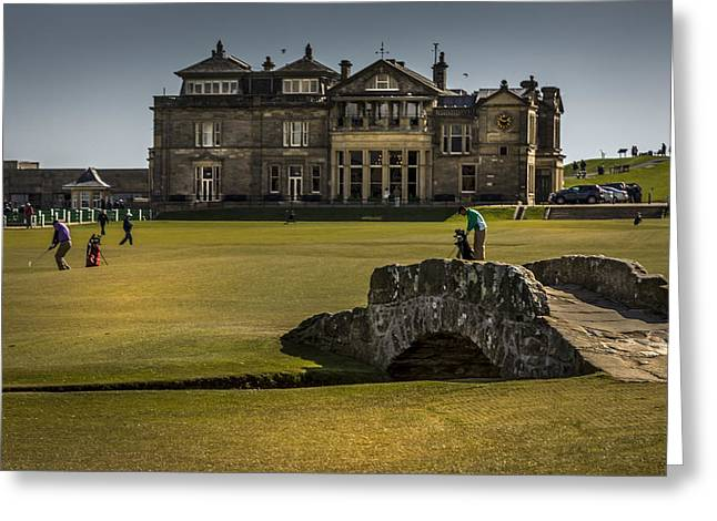 Golfcourse Greeting Cards - Wall Pictures Royal and Ancient Golf Club Greeting Card by Alex Saunders
