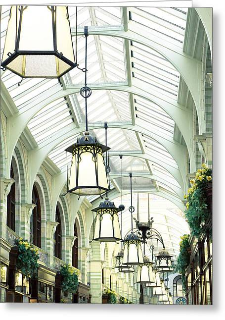Commercial Greeting Cards - Royal Arcade Greeting Card by Tom Gowanlock