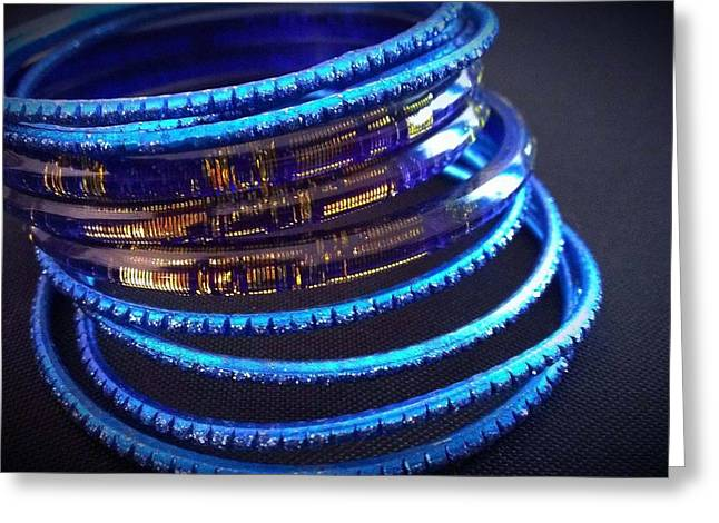 Dark Jewelry Greeting Cards - Royal Bangles Greeting Card by Catherine Ratliff