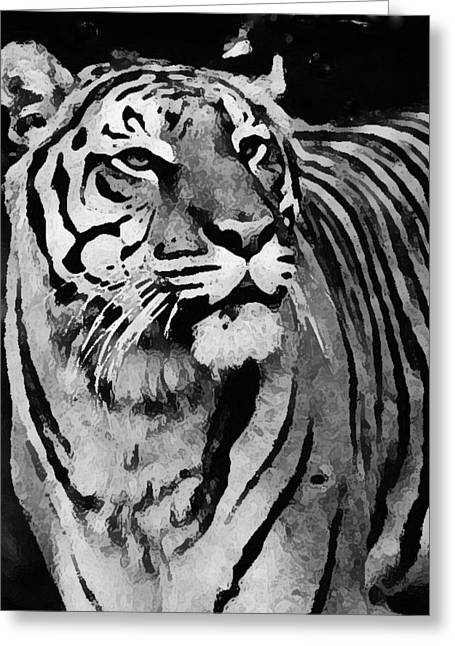 Killer B Mixed Media Greeting Cards - Royal Bengal tiger portrait Greeting Card by Anthony Dalton