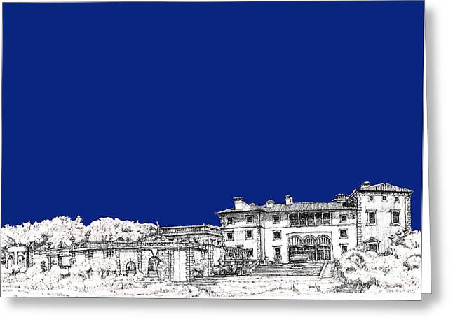 Royal Blue Greeting Cards - Royal blue Vizcaya in Miami Greeting Card by Building  Art