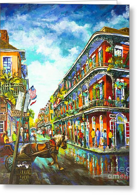 Royal Street Greeting Cards - Royal Carriage Greeting Card by Dianne Parks