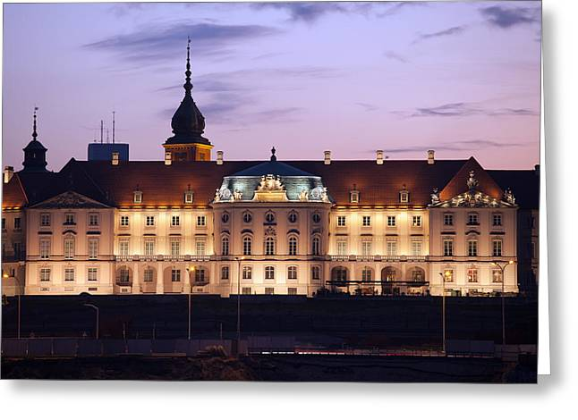 Polish Culture Greeting Cards - Royal Castle at Twilight in Warsaw Greeting Card by Artur Bogacki