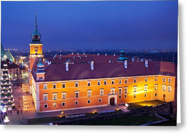 Polish Culture Greeting Cards - Royal Castle in Warsaw at Night Greeting Card by Artur Bogacki