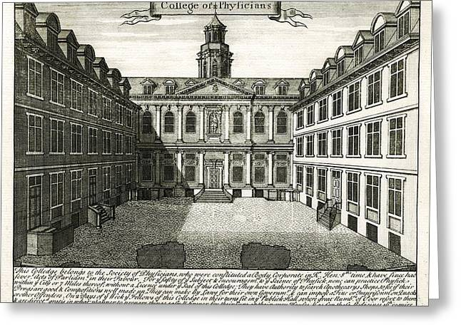 Royal Art Greeting Cards - Royal College of Physicians, 1724 Greeting Card by Science Photo Library