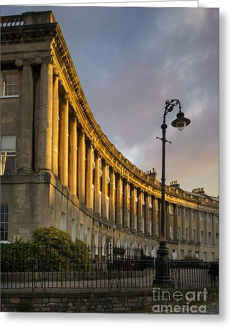 Historic Home Greeting Cards - Royal Crescent - Bath England Greeting Card by Brian Jannsen