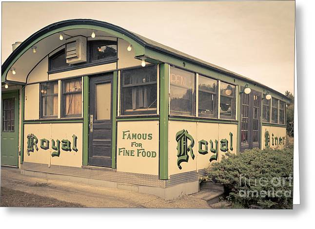 Diner Greeting Cards - Royal Diner Famous for Fine Food Greeting Card by Edward Fielding