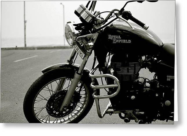 Enfield Greeting Cards - Royal Enfield Greeting Card by Mountain Dreams