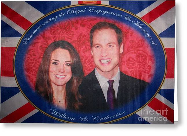 William And Kate Greeting Cards - Royal Engagement Greeting Card by Teresa White