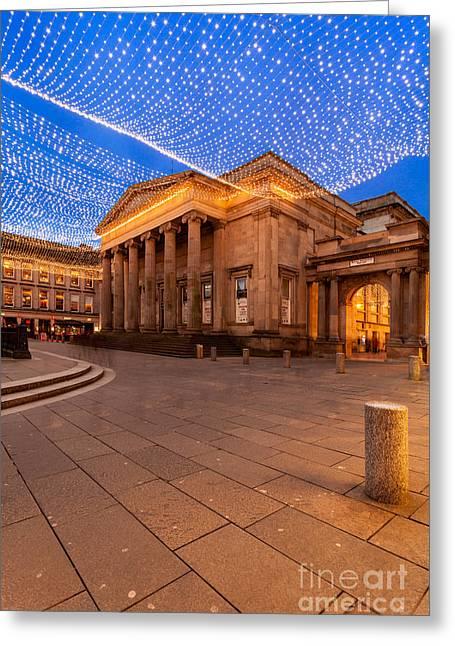 G Greeting Cards - Royal exchange Square at borders Greeting Card by John Farnan