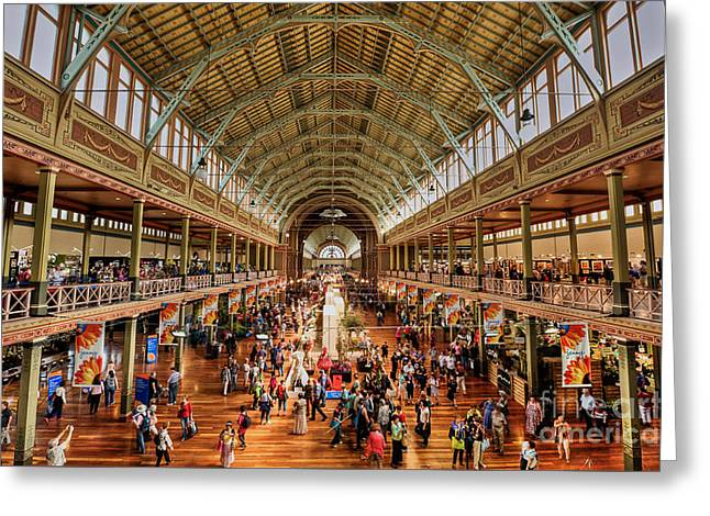 Inauguration Greeting Cards - Royal Exhibition Building III Greeting Card by Ray Warren