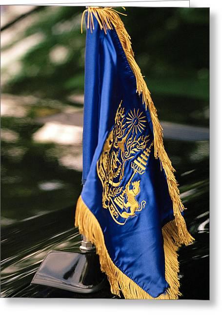 Polish Culture Greeting Cards - Royal Flag Greeting Card by Shaun Higson
